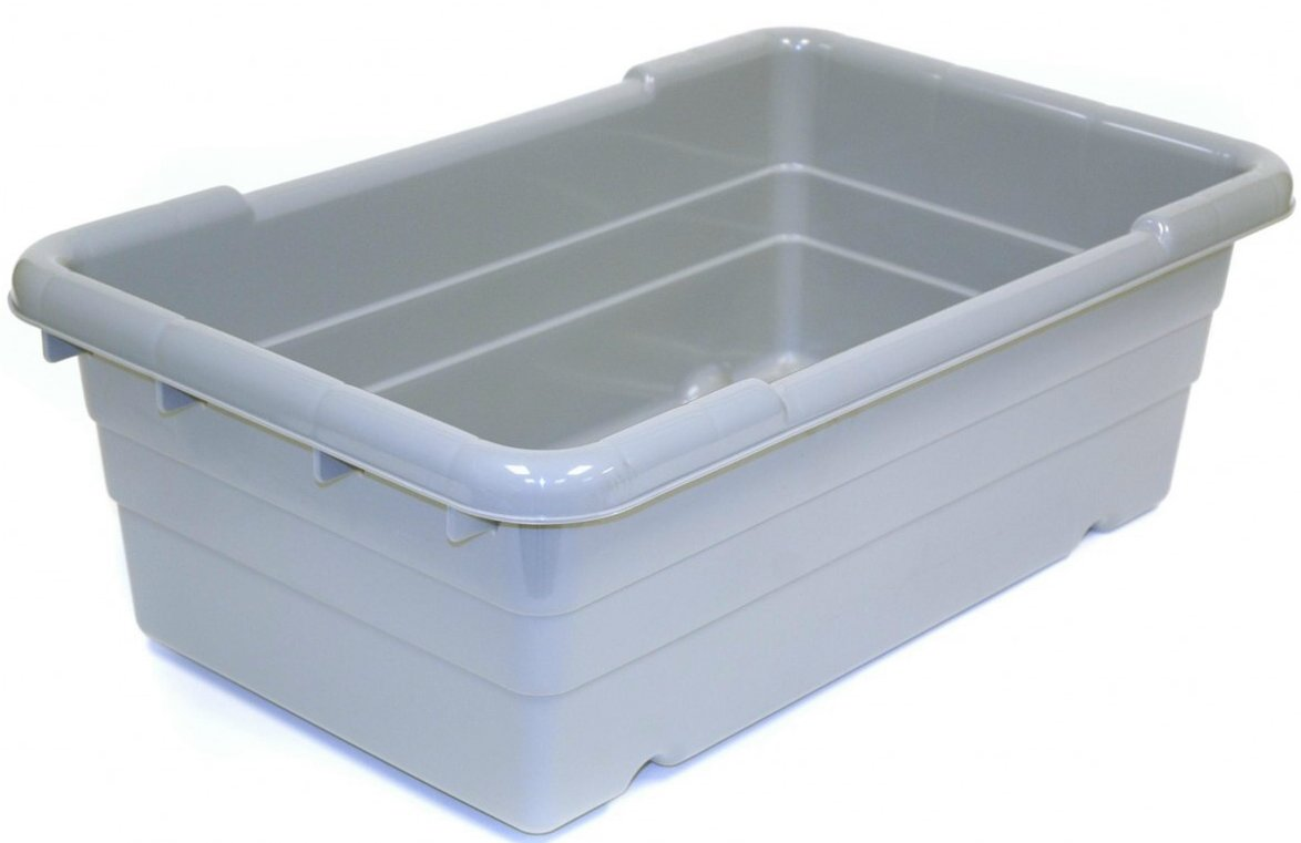 Plastic Wrap Car >> Plastic Meat Lugs & Totes Grey Container 25″x15″x 8″ W'T:10 LB | GL International Corp.